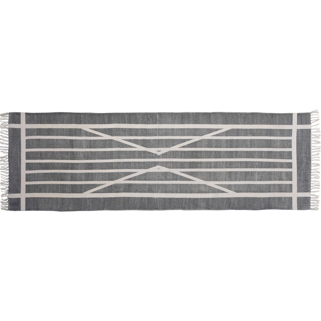 Homart Block Print Rug Cotton Runner 2 5x8 Centerpoint