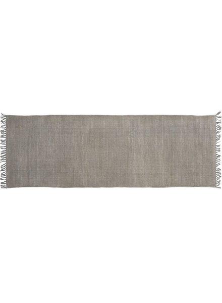 HomArt Stonewashed Cotton Runner, 2.5x8  Stonewashed Grey