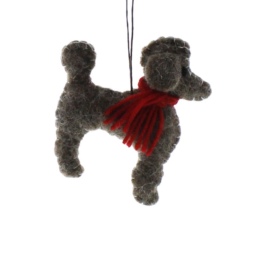 HomArt Felt Dog Ornament - Poodle