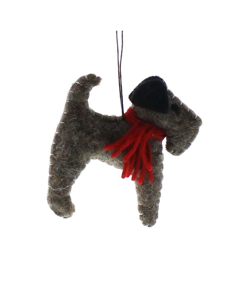 HomArt Felt Dog Ornament - Terrier