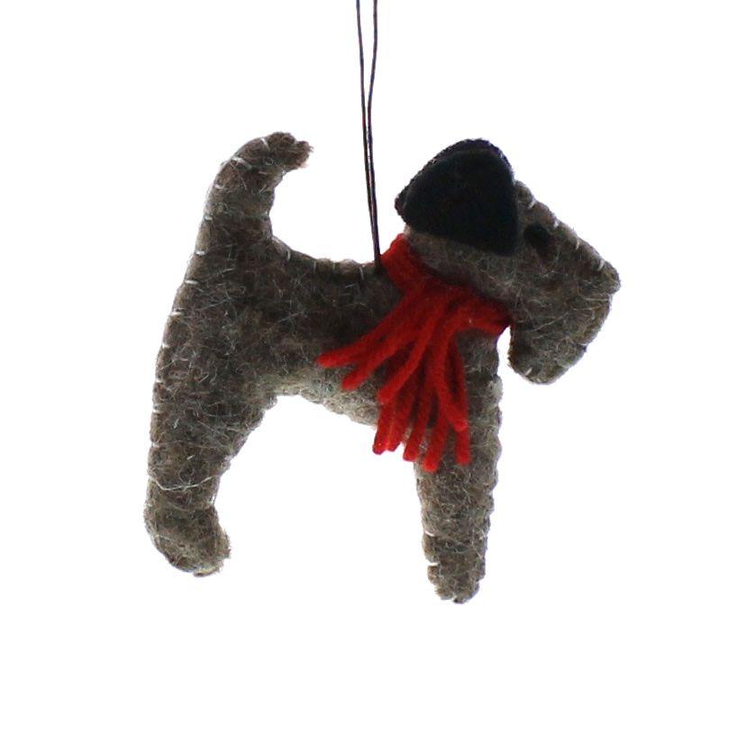 HomArt Felt Dog Ornament - Terrier