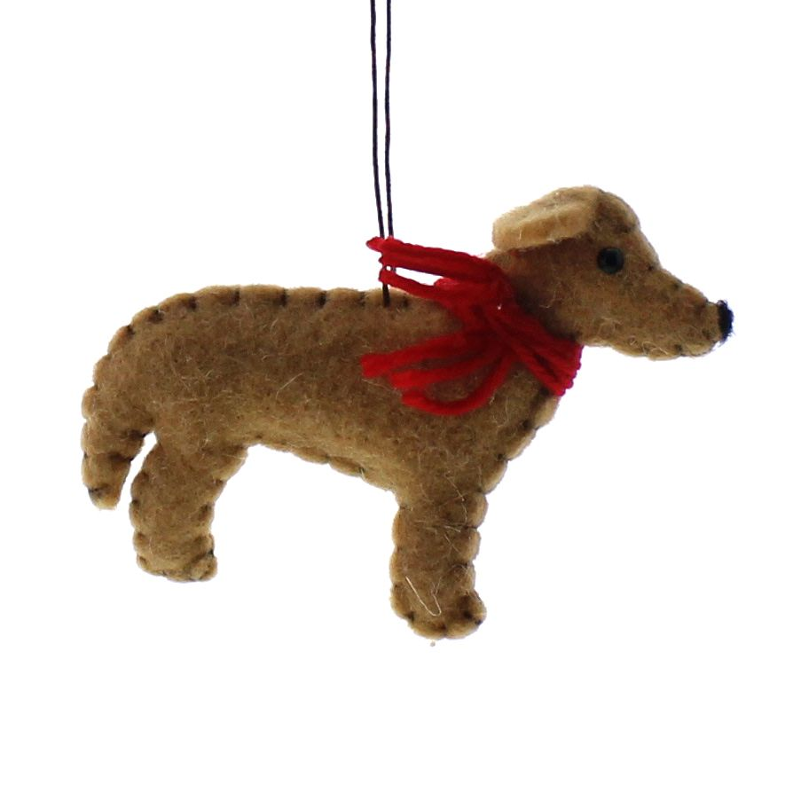 HomArt Felt Dog Ornament - Retriever