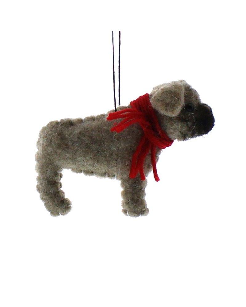 HomArt Felt Dog Ornament - Pug
