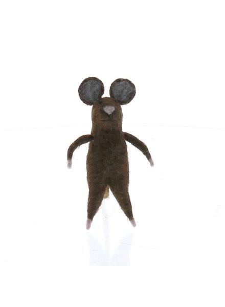 HomArt Felt Brown Mouse Ornament  Brown