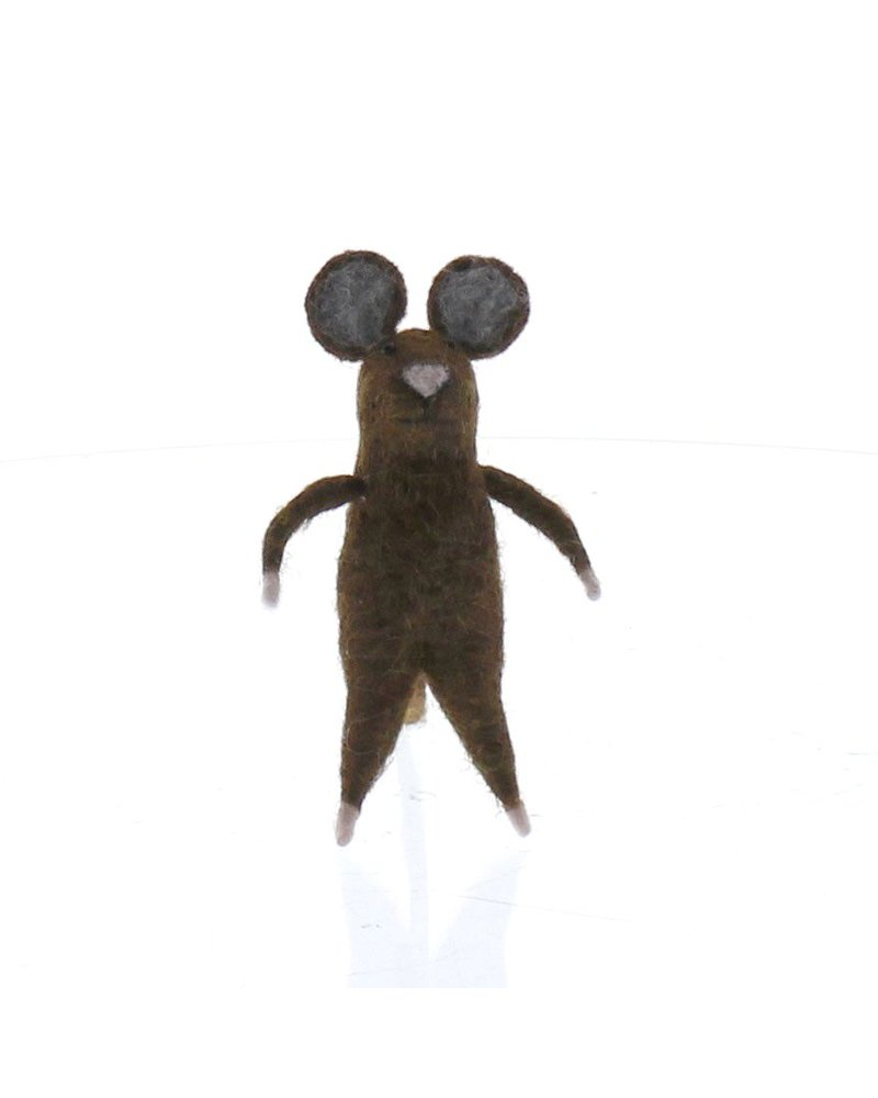 HomArt Felt Brown Mouse Ornament  Brown