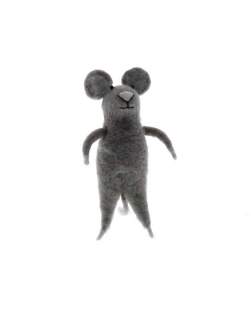 HomArt Felt Grey Mouse Ornament  Grey