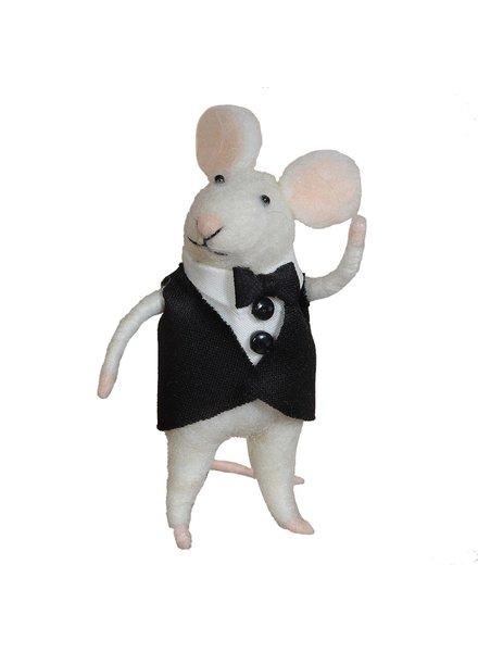 HomArt Felt Groom Mouse Ornament