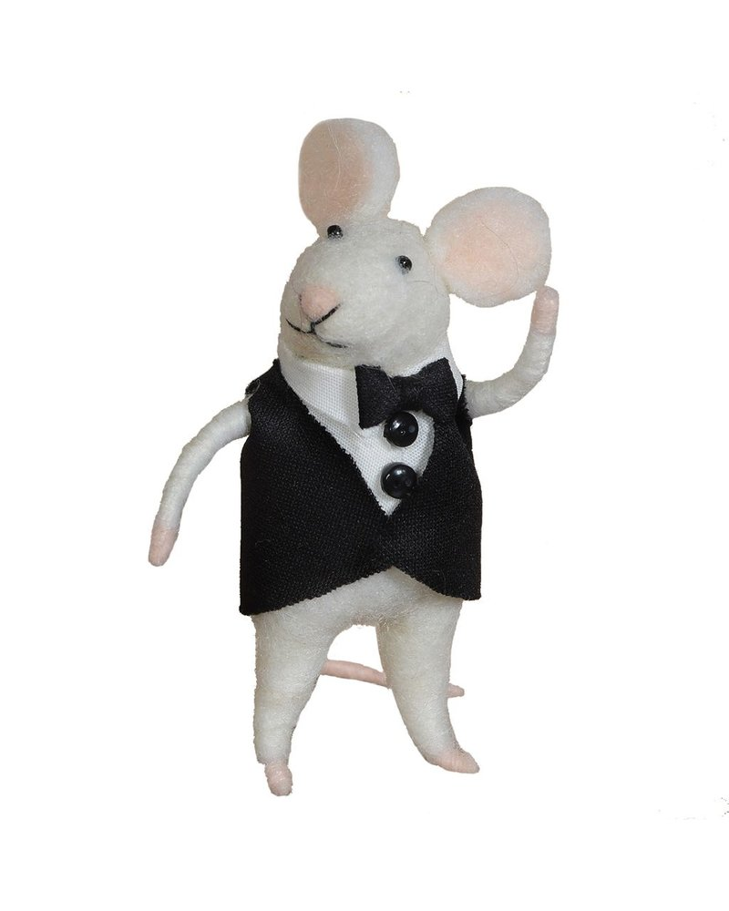 HomArt Felt Groom Mouse Ornament