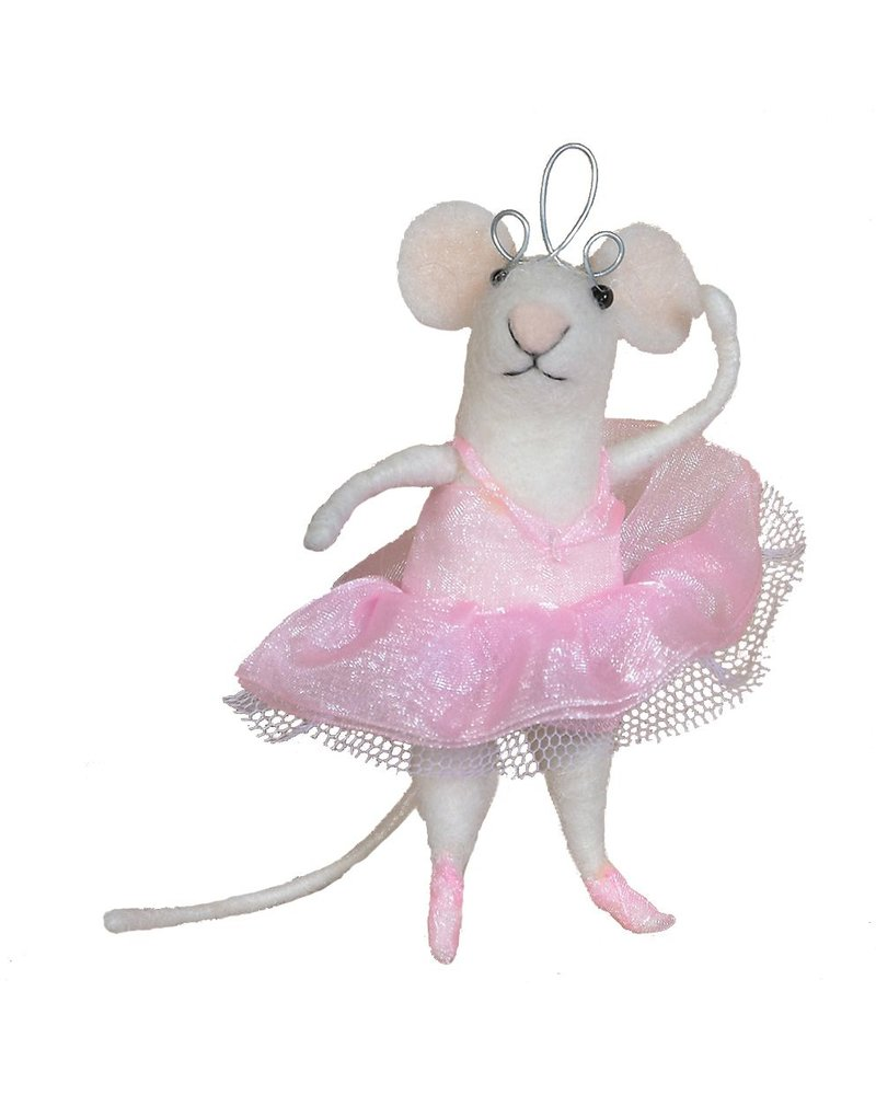 HomArt Felt Ballerina Mouse Ornament
