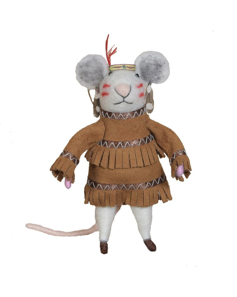 HomArt Felt Native American Mouse Ornament