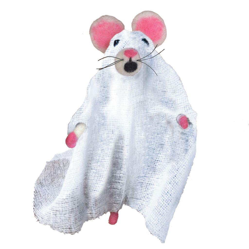 HomArt Felt Ghost Mouse Ornament
