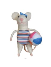 HomArt Felt Swimmer Gal Mouse Ornament