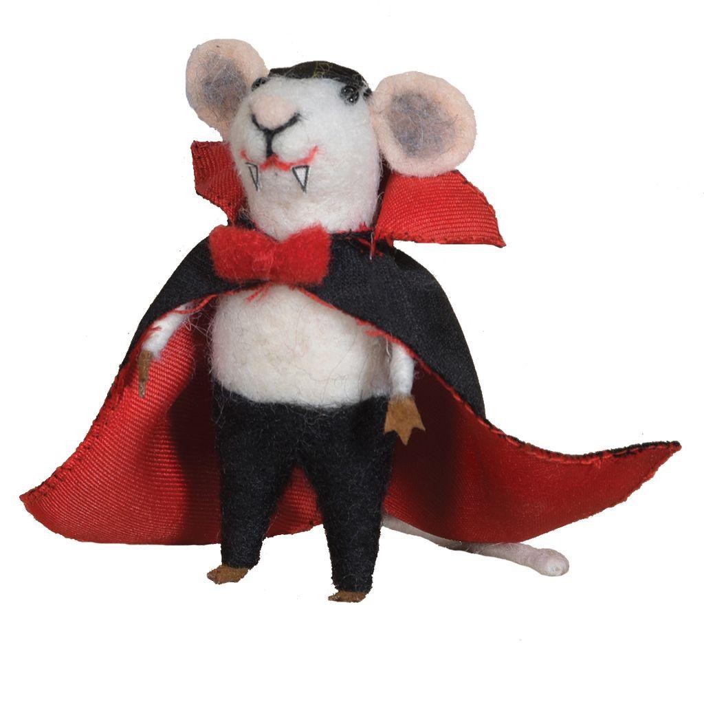 HomArt Felt Vampire Mouse Ornament