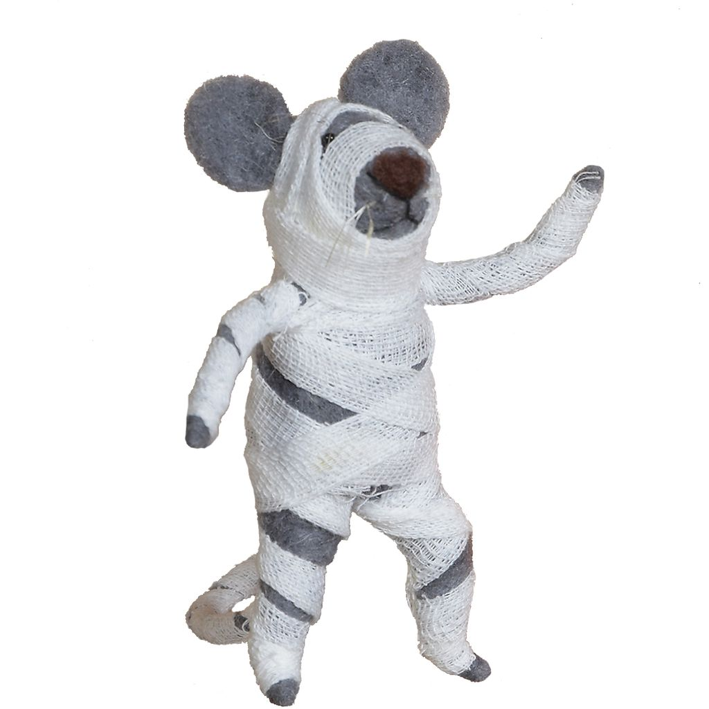 HomArt Felt Mummy Mouse Ornament
