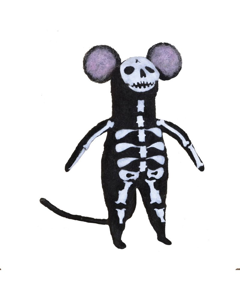 HomArt Felt Skeleton Mouse Ornament