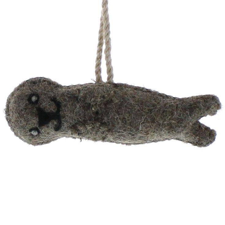 HomArt Felt Otter Ornament  Grey