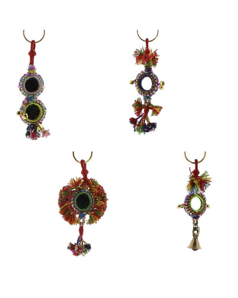 HomArt Gypsy Mirror & Thread Key Chains  Multi