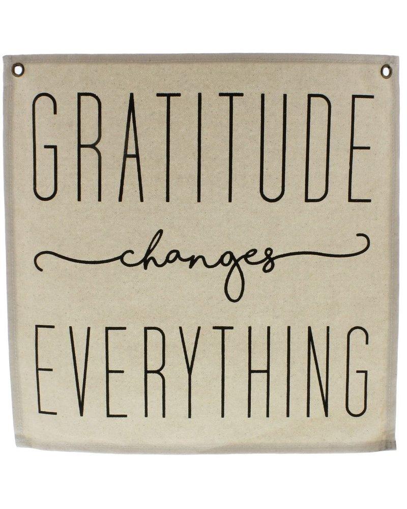 HomArt Canvas Banner - Gratitude
