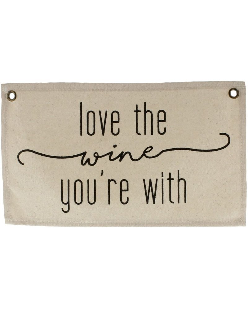 HomArt Canvas Banner - Love the Wine