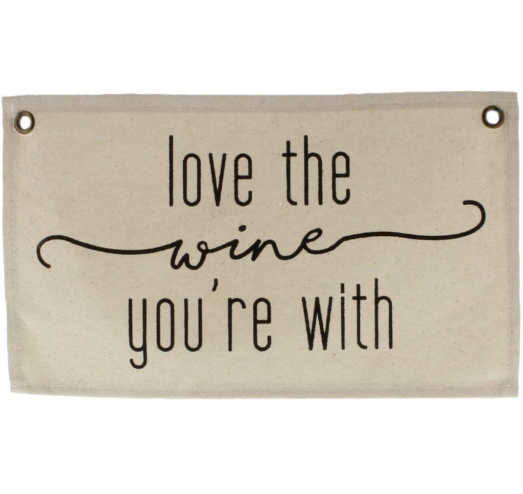 HomArt Canvas Banner - Love the Wine
