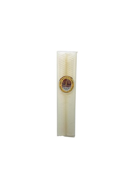 Knorr Beeswax Products Honeycomb Ivory Beeswax Taper 10""