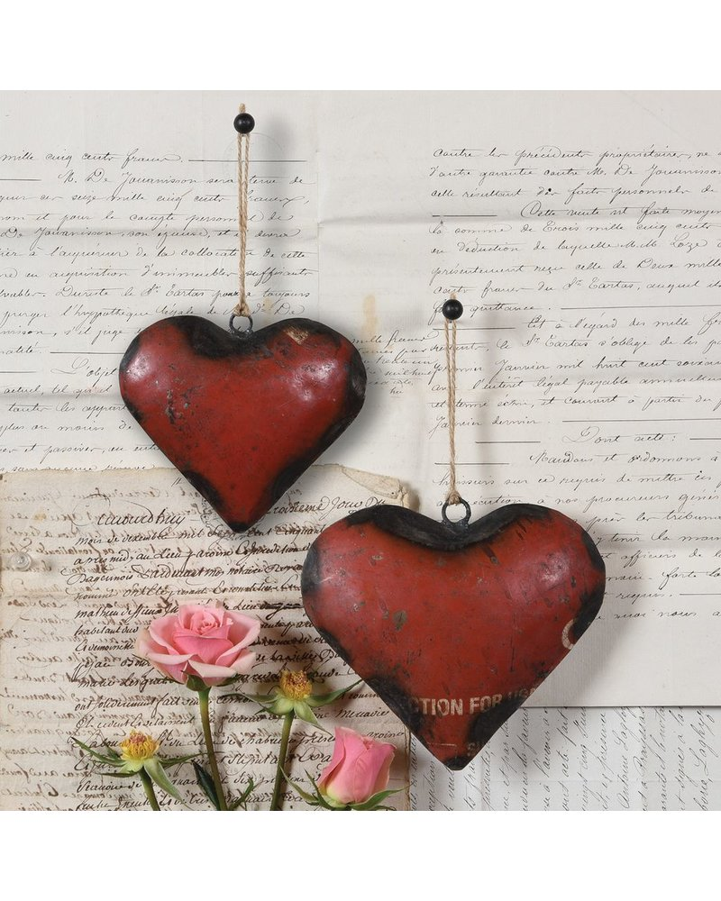 HomArt Reclaimed Metal Heart Ornament - Sm
