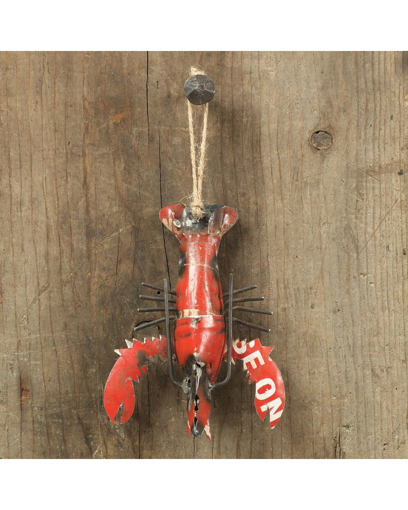 HomArt Reclaimed Metal Ornament - Lobster