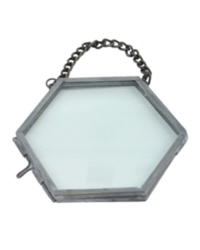 HomArt Pierre Ornament Frame -3.25 x3.0 Hexagon Zinc - AREOhome