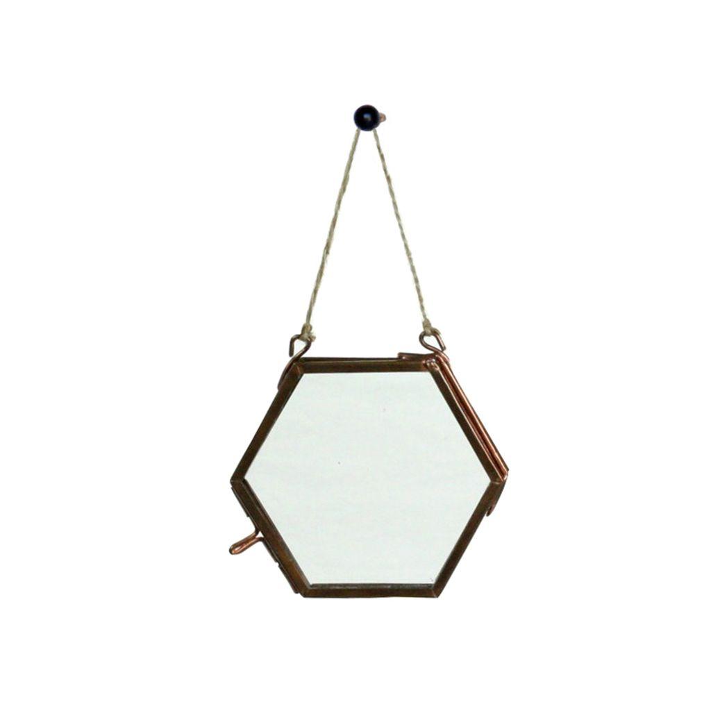 HomArt Cornell Ornament Frame - 3.25 x3.0 Hexagon - Copper - AREOhome