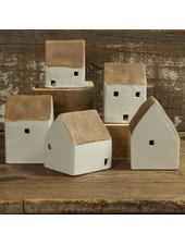 HomArt Ceramic Cottages Set of 5 Asst.