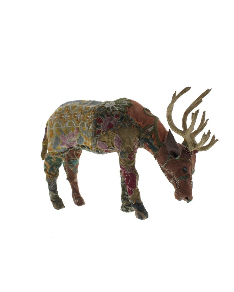 HomArt Bavarian Forest Stag Grazing - Sm  Deep Brown