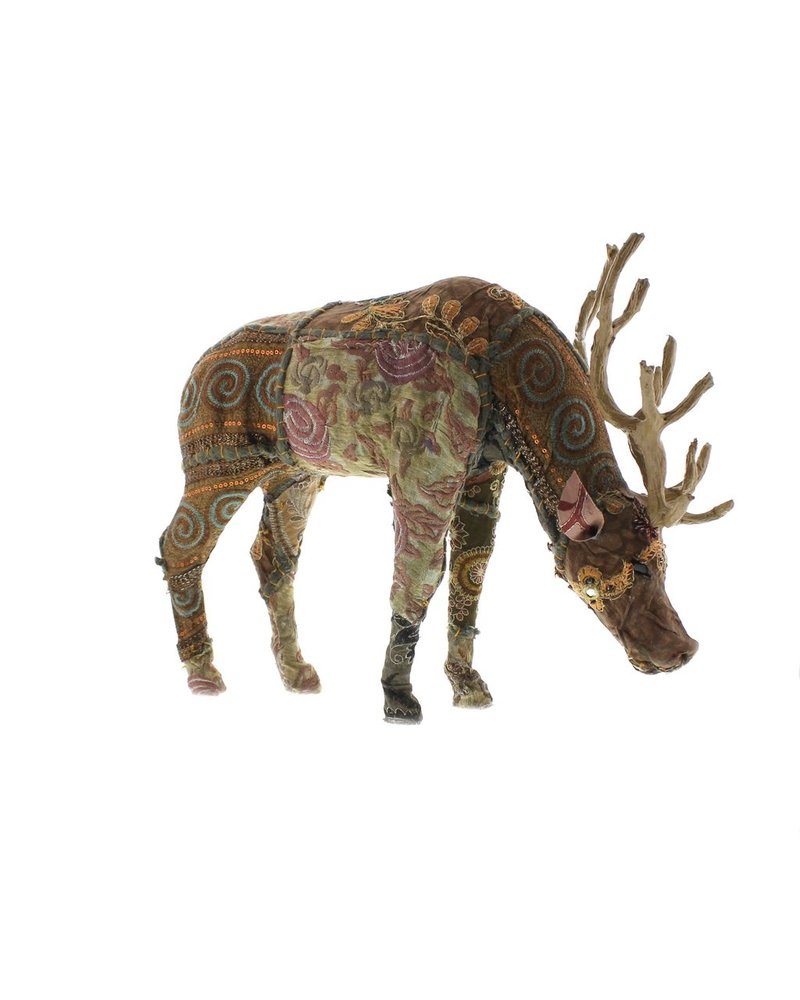 HomArt Bavarian Forest Stag Grazing - Lrg  Deep Brown
