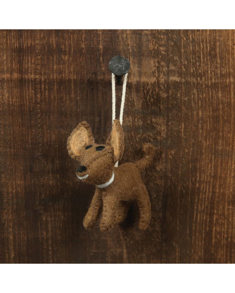 HomArt Felt Dog Ornament - Chihuahua