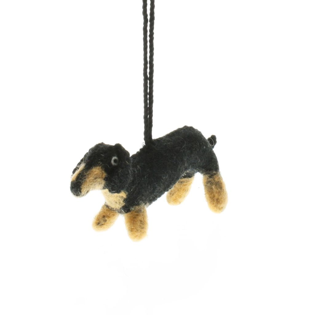 HomArt Felt Dog Ornament - Dachshund