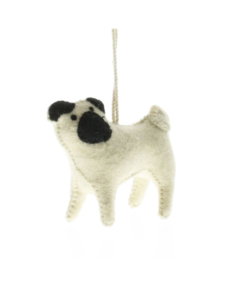 HomArt Felt Dog Ornament - Pug