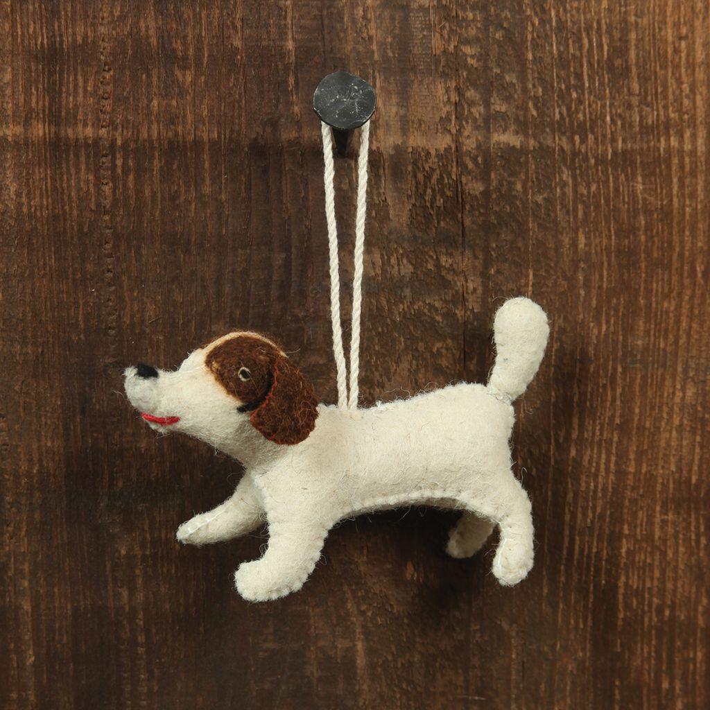 HomArt Felt Dog Ornament - Brown Spotted Terrier