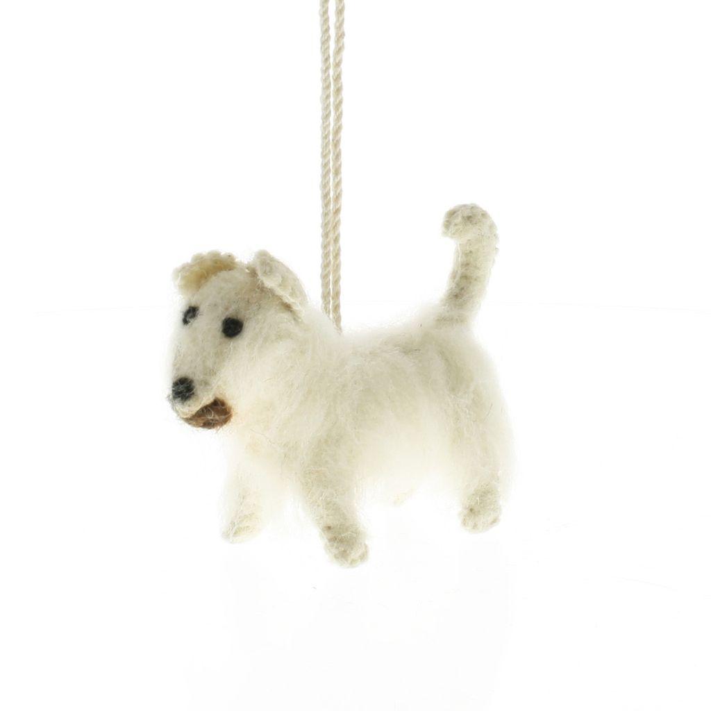 HomArt Felt Dog Ornament - Westie
