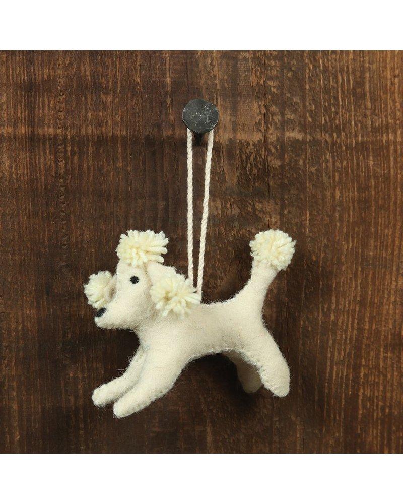 HomArt Felt Dog Ornament - White Poodle