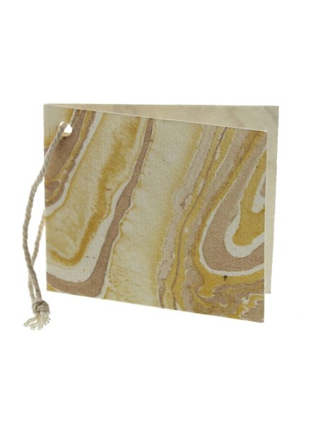 HomArt Gold Marbleized Paper Gift Tag - Pack of 12