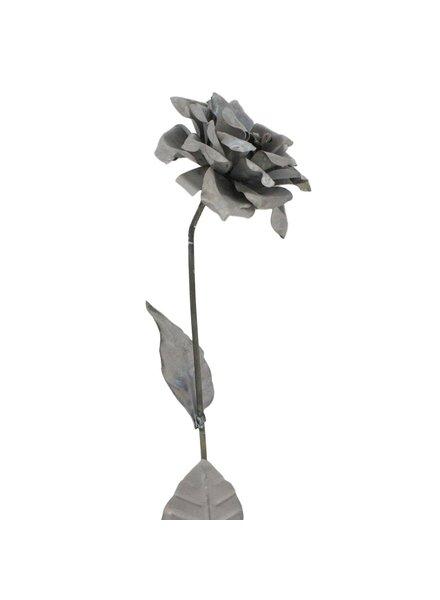 HomArt Open Rose on Galvanized Stake
