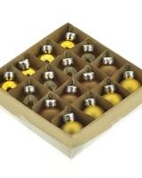 HomArt Teeny Tiny Glass Ornaments, Box of 16 Assorted Yellow