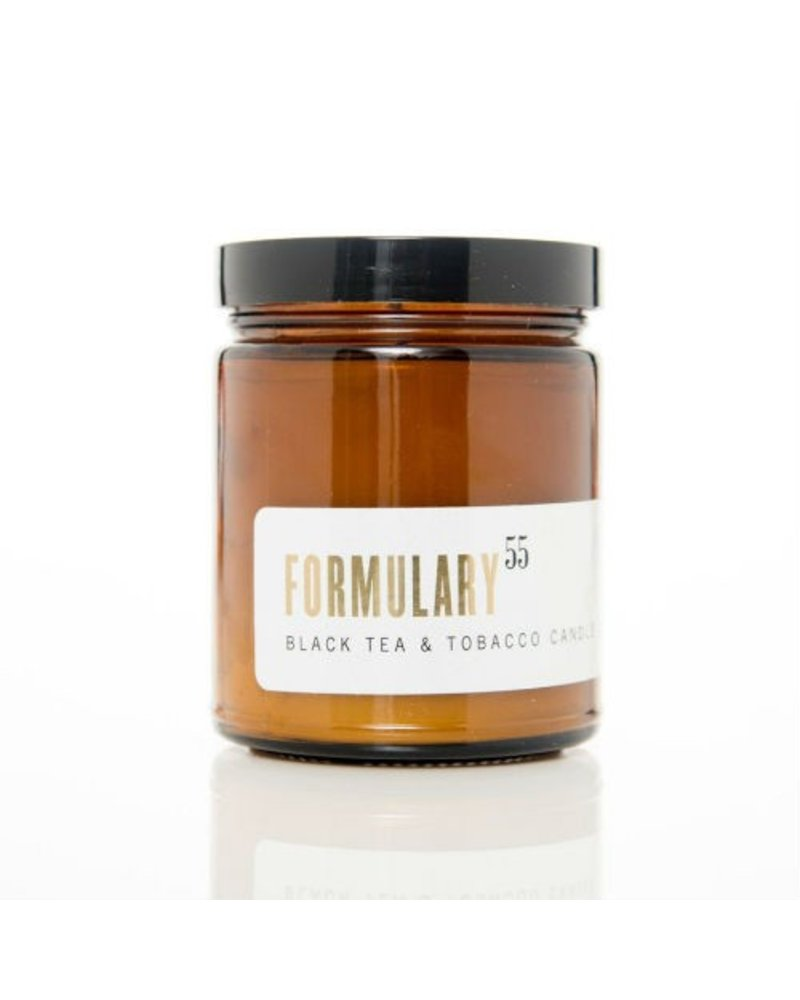 Cordelia J & Co. Black Tea & Tobacco Amber Glass Candle