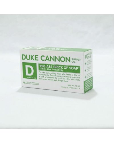 Duke Cannon Smells Like Productivity Soap