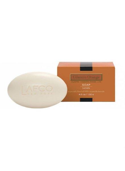 Cilantro Orange 4.5oz Lafco Single Soap