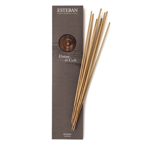 Esteban Ebene Et Cuir Bamboo Stick Incense