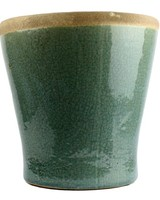 HomArt Mulberry Ceramic Cachepot - Lrg Teal