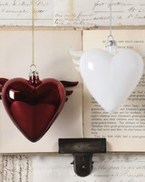 HomArt Glass Winged Heart Red
