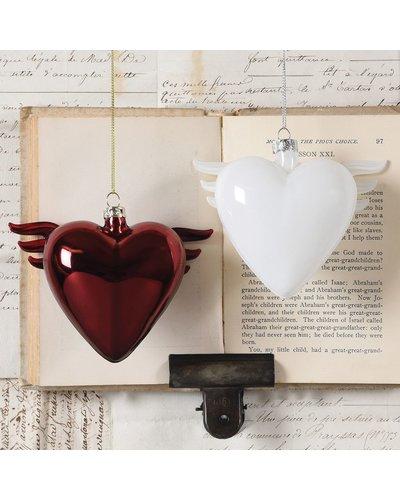 HomArt Glass Winged Heart Red