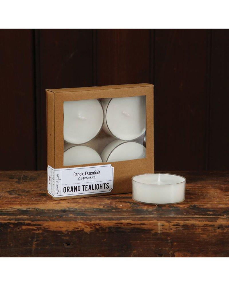 HomArt Grand Tealights - Box of 4 Ivory