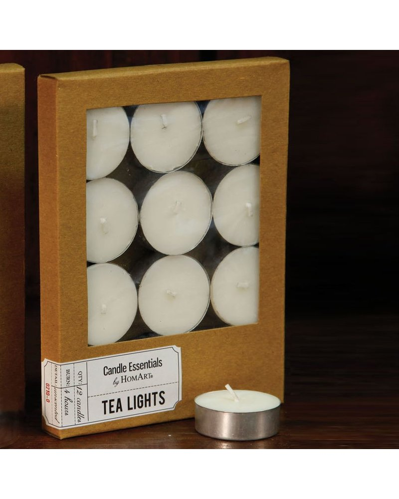 HomArt Tealight - Box of 12 Ivory